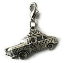 SILVER NEW YORK TAXI CAB WITH I LOVE NEW YORK ON IT CLIP-ON CHARM - TIBET SILVER