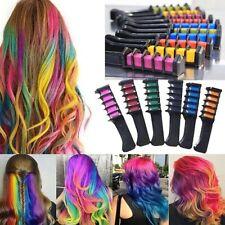 6pcs Temporary Hair Chalk Hair Color Comb Dye Salon Kits Party Cosplay Set Kj