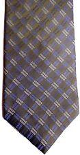 "Calvin Klein Men's Silk Tie 57.5"" X 4"" Olive w/ blue/silver Iridescent Geometric"