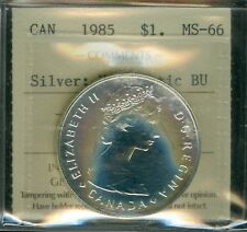 1985 CANADA PARKSE SILVER DOLLAR TOP GRADE ICCS NUMISMATIC BU RARE RAINBOW .
