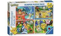 Pokemon 100 Piece Jigsaw Puzzle - Set of 4 World To Find More Unique Pokemon _UK