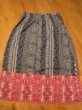 rainsong designs broome Australia paisley  rayon skirt 14 as bought