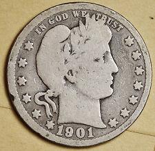 1901 Barber Quarter.  Good.  96164