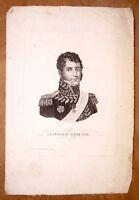 Eau forte, Général Grouchy, éditée chez Turgis, école francaise XIXe,