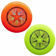 NEW Discraft ULTRA-STAR 175g Ultimate Frisbee Disc (2 Pack) ORANGE/YELLOW