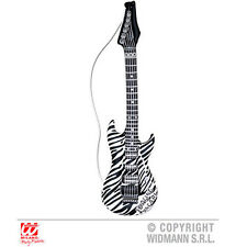 Inflable 105 cm Zebra Banda De Rock Musical Guitarra Pop Rock Disfraz Accesorio