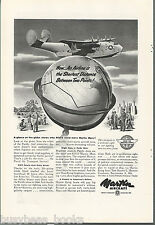 1945 MARTIN AIRCRAFT advertisement, NATS, Martin Mars transport flying boat