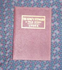 The King's Steward A True Story - George Schuman by Lyons 1931 Leather hardcover