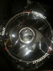  Pilot Automotive Black Genuine Leather Steering Wheel Cover for Chevy-SW-111