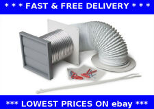 Manrose tumble dryer venting kit 100mm kitchen wall ducting ventilation 41703