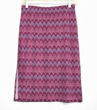 Guess Collection - M - Purple & Pink Chevron Zig Zag - Jersey Knit Pencil Skirt
