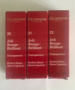 Clarins Joli Rouge Brilliant Lipstick 3.5g... Boxed/ New... Choose Shade ...