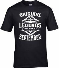 Hombre Cumpleaños t-shirt regalo Legends 18th 21 30 40 50 60 70th septiembre