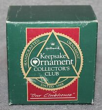 Hallmark Keepsake Our Clubhouse Collector's Club Ornament 1988