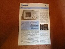 MARCONI  6200A  Microwave Test Set - Sales Literature - spec sheet  HAM RADIO