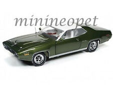 AUTOWORLD AMM1092 1971 71 PLYMOUTH SATELLITE SEBRING PLUS 1/18 DIECAST GREEN