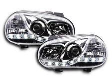 VW GOLF 4 MK4 (1998-2003) chrome LED DRL DAYLIGHT RUNNING FARI COPPIA RHD