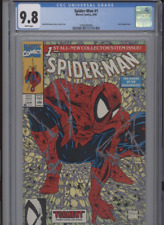 SPIDER MAN #1 MT 9.8 CGC WHITE PAGES LIZARD APP. TODD MCFARLANE STORY COVER ART
