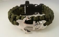 Special Blue Water Operations Paracord Bracelet with whistle on buckle