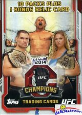 2014 Topps UFC Champions EXCLUSIVE Factory Sealed Retail Box+Belt Plate RELIC !