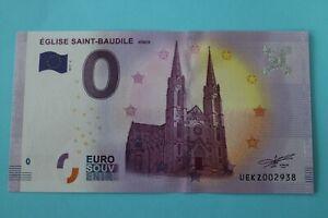 BILLET 0 EURO SOUVENIR  2017 EGLISE SAINT BAUDILE