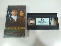 Robinson Crusoe Daniel Defoe Pierce Brosnan - VHS Cinta Español - 2T