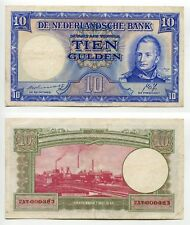 10 Gulden Niederlande 7.5.1945  Error MISDRUK  Erhaltung III+, Pick 75a