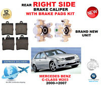FOR MERCEDES BENZ C CLASS W203 2000->2007 NEW REAR RIGHT BRAKE CALIPER WITH PADS