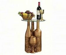 """EU32574 - Wine and Dine Sculptural Glass-Topped Table - 16"""" dia. Top"""