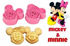 MICKEY & MINNIE MOUSE COOKIE CUTTERS.. SET OF 2 DIFFERENT DESIGNS...