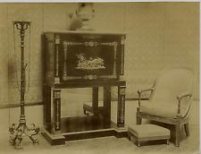 France, Compiegne, Fauteuil et secretaire Empire  Vintage albumen print, France