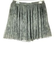 BCBGENERATION Women's Pleated Mini Skirt size S animal print Gray Black 1019