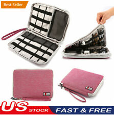Cable Cord Organizer Electronics Accessories Travel Bag USB Hard Drive Case WF