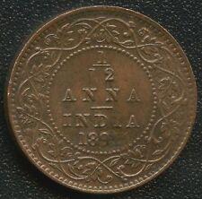 India 1891 1/12 Anna Coin