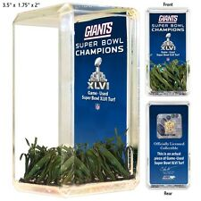 New York Giants Super Bowl Xlvi Game Used Turf Desktop Collectible