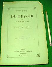 Question italienne Du devoir dans les circonstances actuelles  A de Falloux 1860