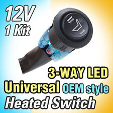 Universal Heated Seat Switch 1ea 3 Way LED Switch  Diameter 20mm , Length 1.5m