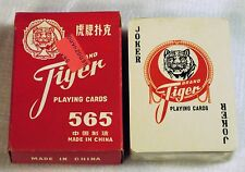 TIGER BRAND PLAYING CARDS New Sealed Deck No. 565 Red Box Backed poker cards