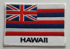 NATIONAL OLYMPIC COUNTRY FLAG (SMALL) SEW ON / IRON ON PATCH:- HAWAII