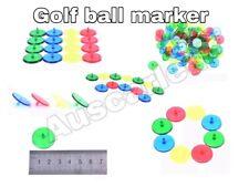 5x PLASTIC GOLF BALL MARKER Vibrant Colour