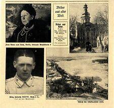 Prinz Heinrich XXXVIII.Reuß j.L. fiel an der Westfront * Pressenotiz v. 1918