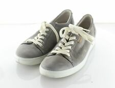 23-19 $160 Women's Sz 6 M Ecco Soft 7 Tie Leather Lace Up Low Top Sneakers