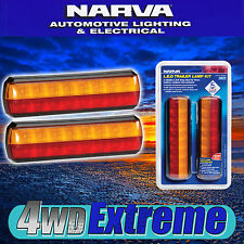 NARVA LED TRAILER LIGHTS SLIMLINE SMALL STOP TAIL INDICATOR 12 & 24 NEW 93812BL2