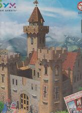 Cardboard model kit. The medieval town. The knight castle. Wargame landscape