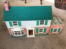 Marx Vintage Tin Litho Dollhouse, 1968 Colonial Manor, with Furnishings