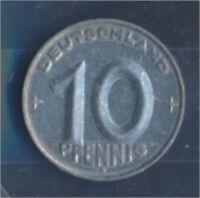 DDR Jägernr: 1507 1953 E vorzüglich Aluminium 1953 10 Pfennig (7849359