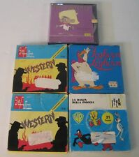 super 8mm, 5 bobine, western, speedy gonzales, titti , gatto silvestro, cartoon