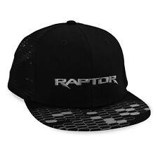 Ford F-150 Raptor Flat Bill Black Mesh Baseball Cap