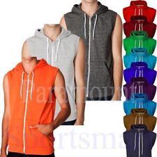 Polycotton Sleeveless Plain Hoodies & Sweats for Men