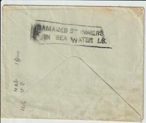 "WRECK MAIL - INDIA - 1936 ""SCIPIO"" WRECK COVER"